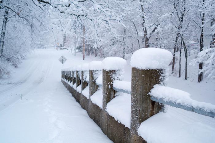 10. We go walking in a winter wonderland.