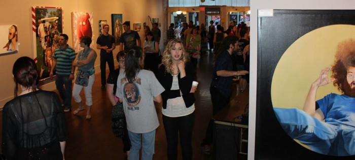 4.) Sip, snack and discover local artists at the Hays Art Council's seasonal Art Gallery Walk.