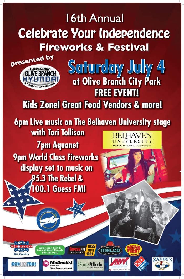 11. 16th Annual Celebrate Your Independence Fireworks and Festival