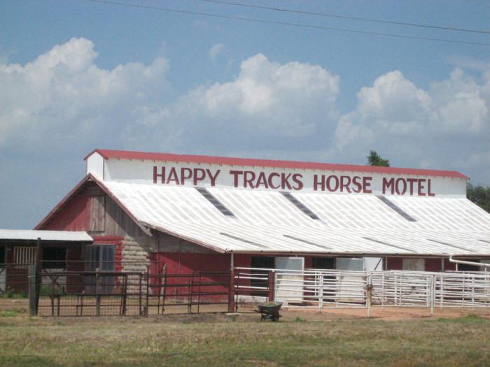 2) Happy Tracks Horse Motel (Amarillo)