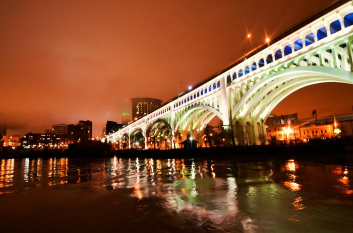 8) Cleveland Veteran's Memorial Bridge