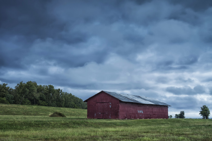 "1. This barn, located in the Delta, was appropriately named ""Big Red"" by the photographer."