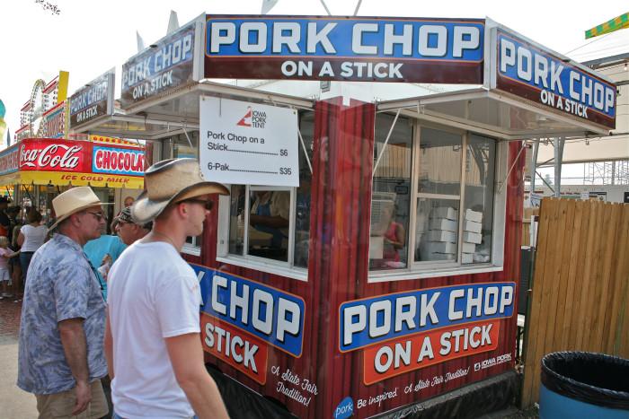 11. Pork chop on a stick