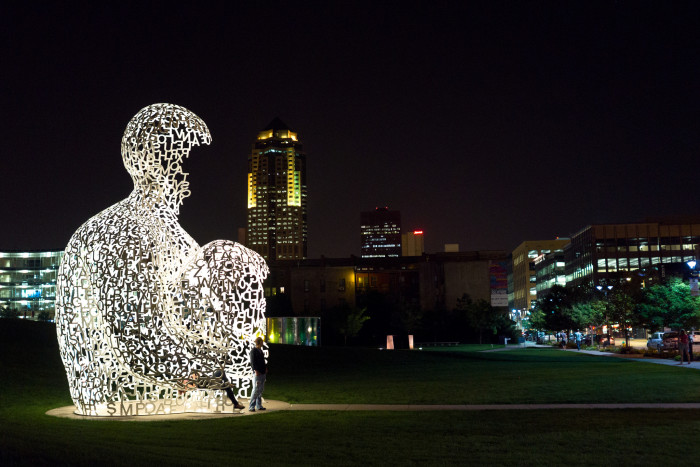 10. Admire the art at the Pappajohn Sculpture Park.