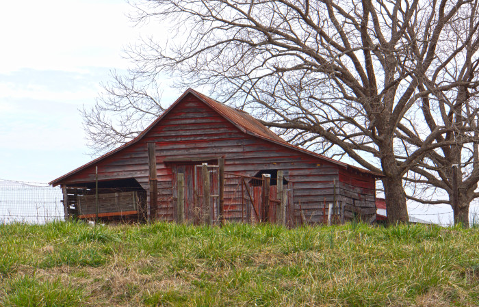 "12. Located in Montgomery County, this small barn and the beautiful landscape definitely qualify as ""picture perfect."""