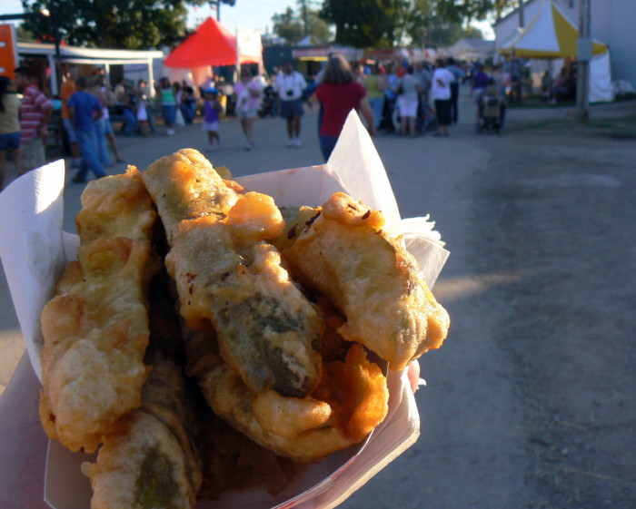 1) The Ohio State Fair and/or county fairs and fried foods = clogged arteries.