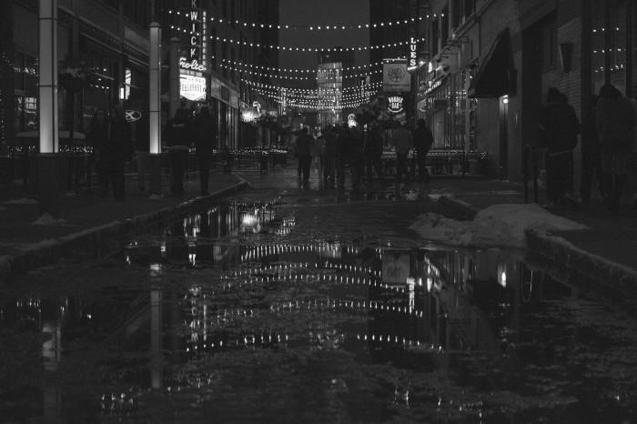 6) Cleveland street at night