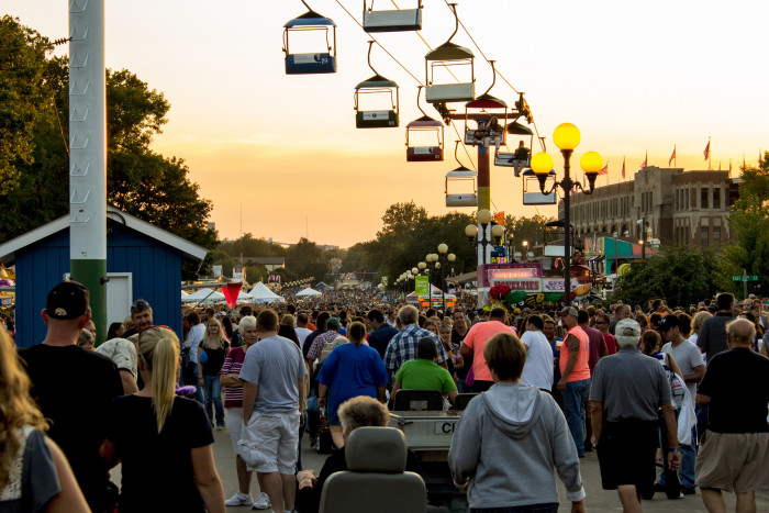 12. The Iowa State Fair in Des Moines