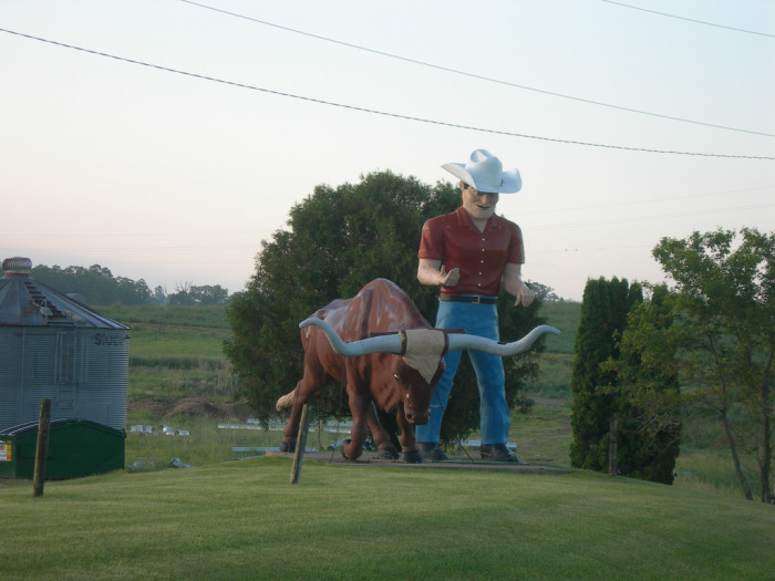 12. This Toy-Storyesque cowboy and his bull