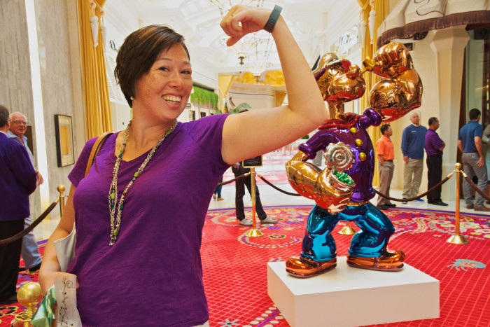 8. The world's most expensive Popeye statue ($28 million) - Las Vegas, NV / Wynn Hotel