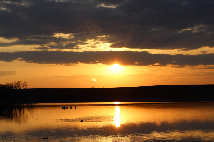 5. WOW!!! What a GORGEOUS sunset in McIntosh County, North Dakota!