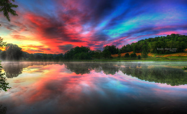11. This unbelievable sunrise captured by photographer Brook Ward.