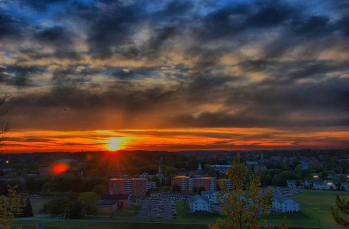 10) Ohio University at dusk (Athens)