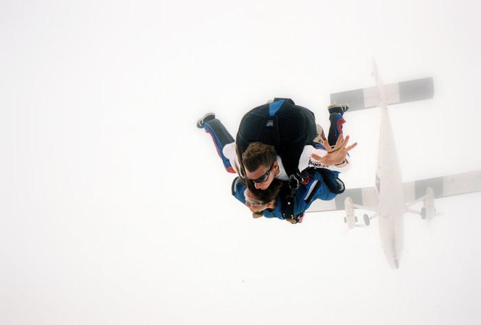 3) Skydiving!
