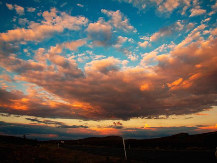 2. Sunset over Nevada desert