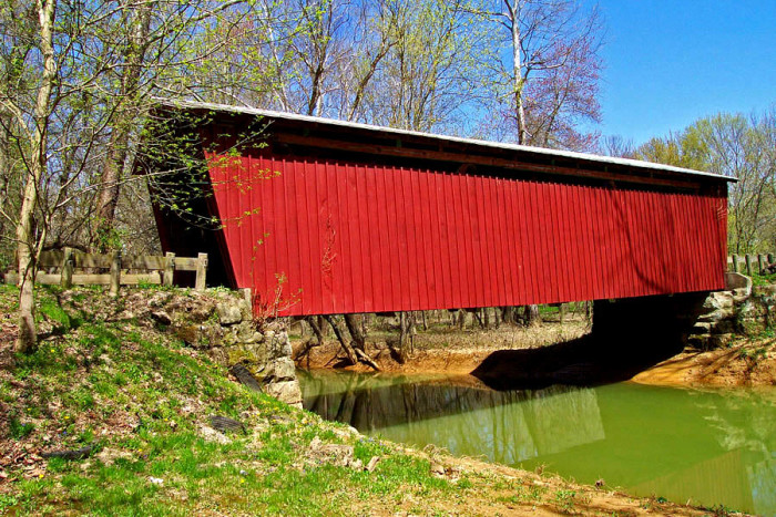 17) Buckeye Furnace covered bridge (Jackson County)