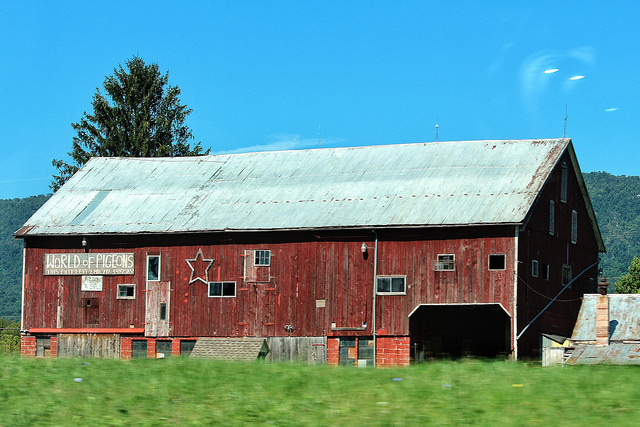 15. The exterior of this barn is so intriguing, that you might be tempted to venture inside.