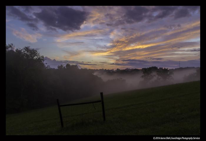 1) Hocking Hills at sunset