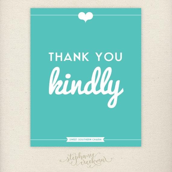 7) Thank You Kindly