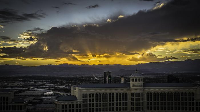 9. Sunset over the Las Vegas Strip
