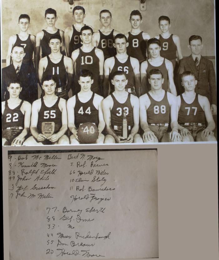 11.) Basehor Kansas High School Basketball (1940)