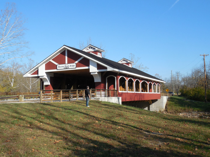 2) Hueston Woods covered bridge (Preble County)