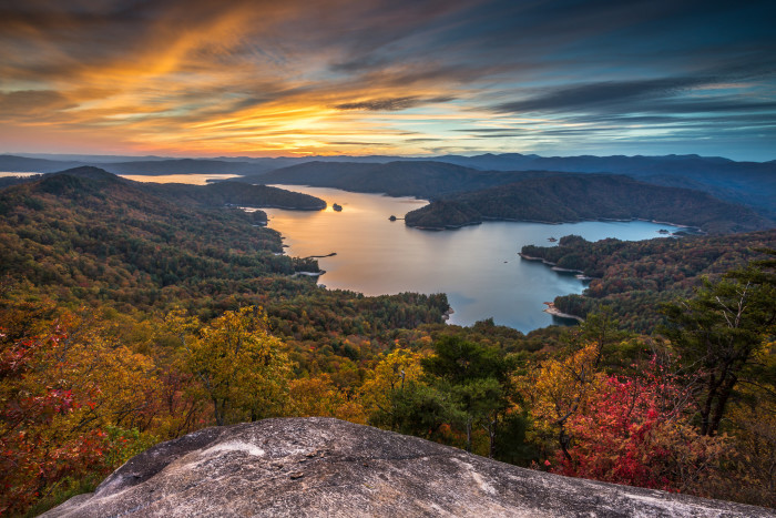 2. The view when seen from Jumping Off Rock over Jocassee Lake