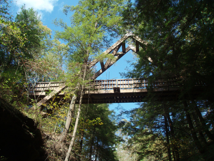 11) Hocking Hills Valley Crossing  (Hocking Hills State Park)