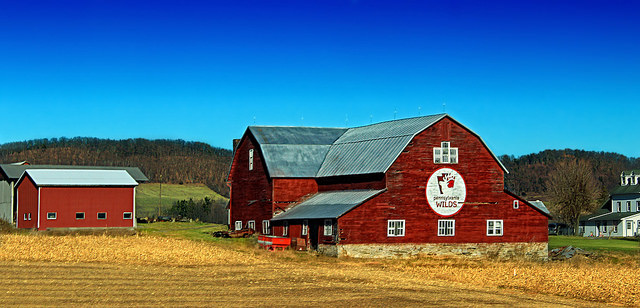 13. We love that Pennsylvania is spotlighted on the front of this gorgeous barn.