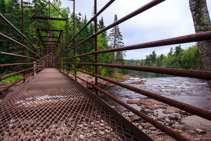 13. The High Falls Suspension Bridge at Gooseberry is fantastic.
