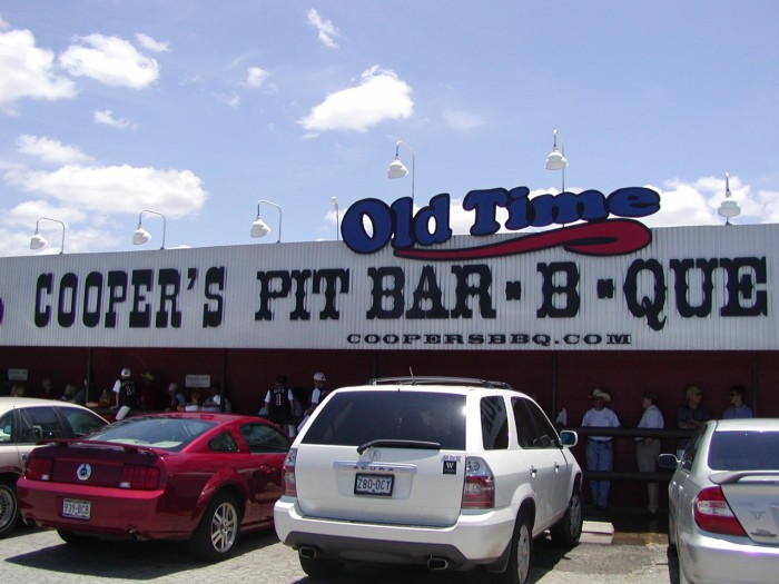 9) Cooper's Old Time Pit BBQ (Llano, Fort Worth Stockyards, New Braunfels, Austin)