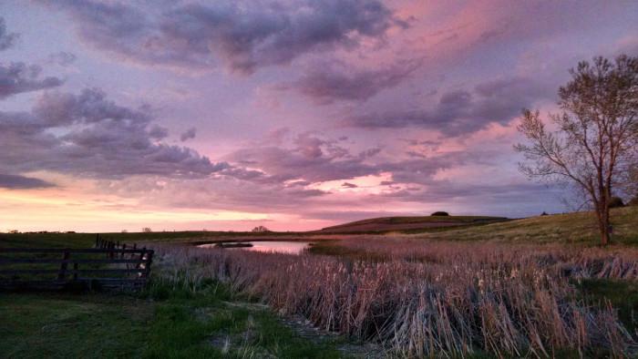 4. A beautiful North Dakota sunset in the Kulm Wetland Management District.