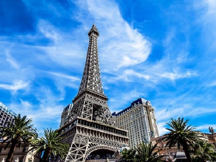 15. The Eiffel Tower at the Paris Las Vegas Hotel & Casino in Las Vegas, Nevada.