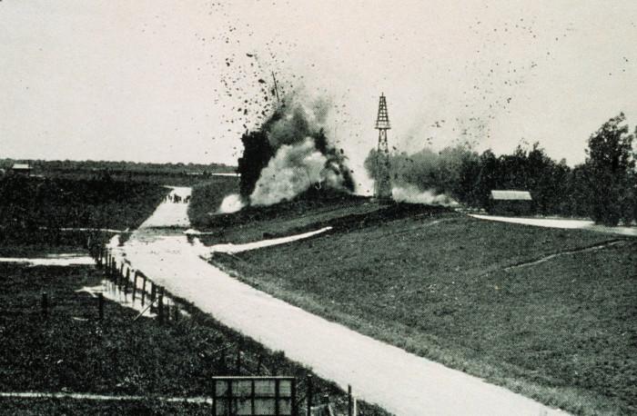 8) Levee Being Dynamited, 1927