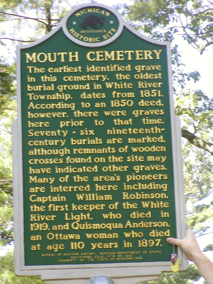 3) Mouth Cemetery, Muskegon County