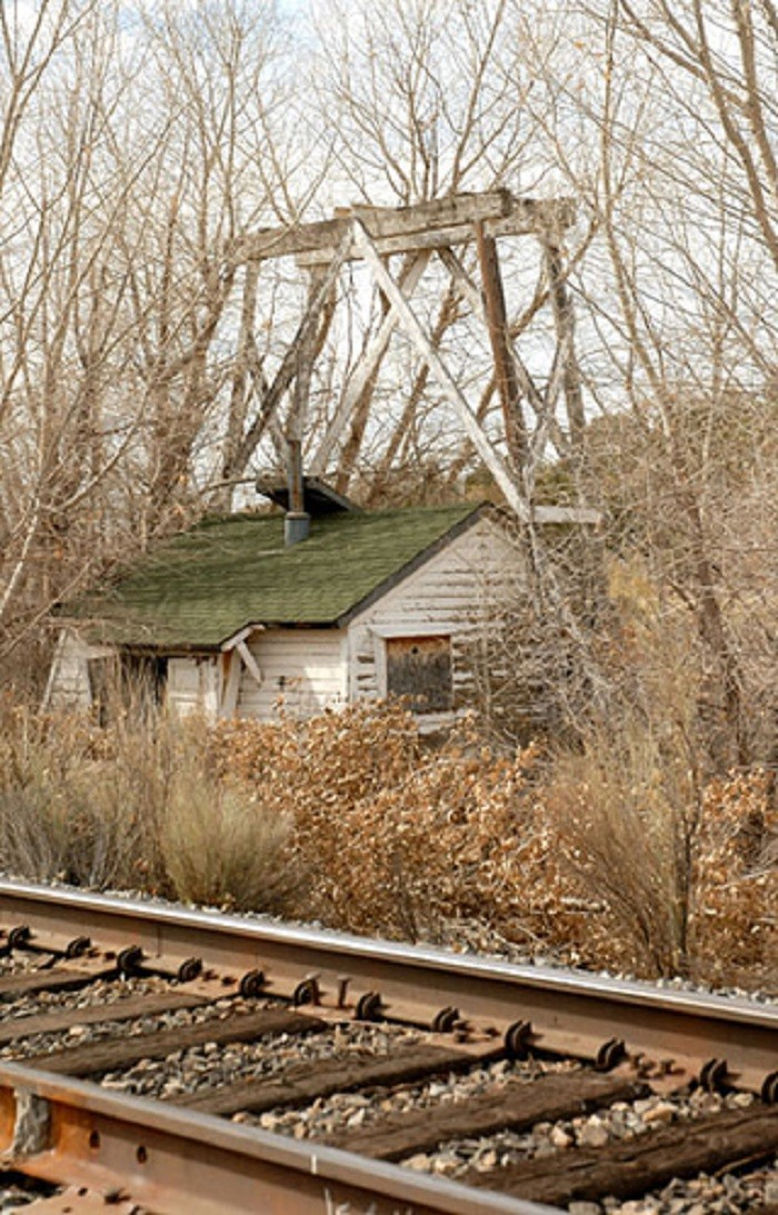 11. An abandoned water pump house in Acoma, Nevada.