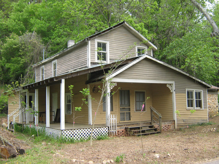 7. Or secure your own mountain getaway with the Aunt Vonnie West House and former West Mill's Post OffIce in Cowee.