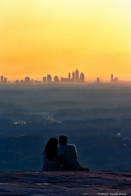 4) The skyline from atop Stone Mountain.
