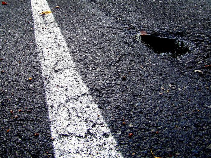 4)...also, potholes.
