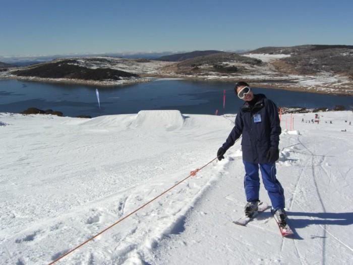 3.) Skiing