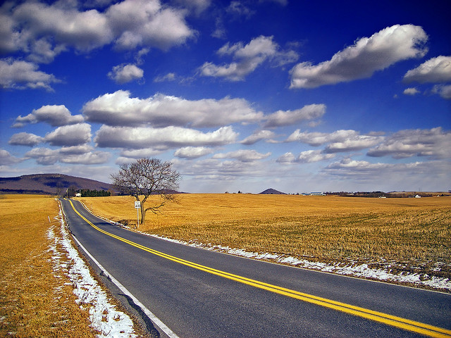 8. This winding Pennsylvania country road.