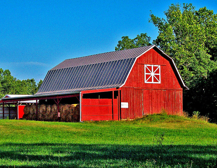 5) Red barn along McCorckle Road (Pike County)