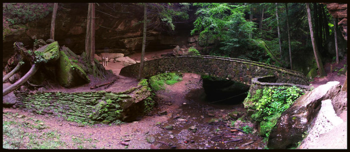 7) Old Man's Cave Stone Bridge (Hocking Hills State Park)