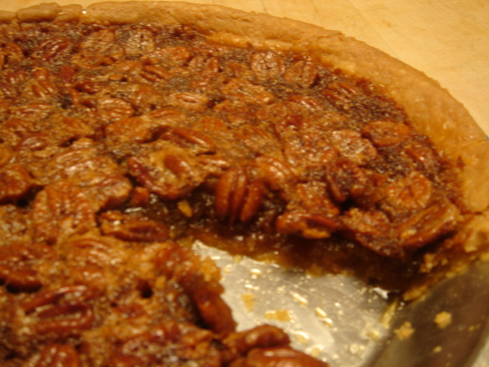 12.  Classical southern pecan pie at holidays