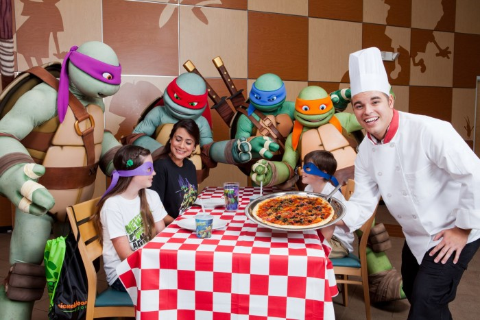 2. The Nickelodeon Suites Resort in Orlando is the perfect location for anyone who ever dreamed of eating pizza with the Ninja Turtles, chilling poolside with Spongebob or getting slimed.