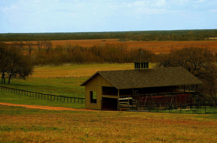 10) Barn With Cupola In A Beautiful Valley (Falls County)