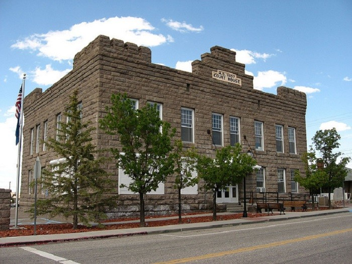 11. The Esmeralda County Courthouse in Goldfield, Nevada.