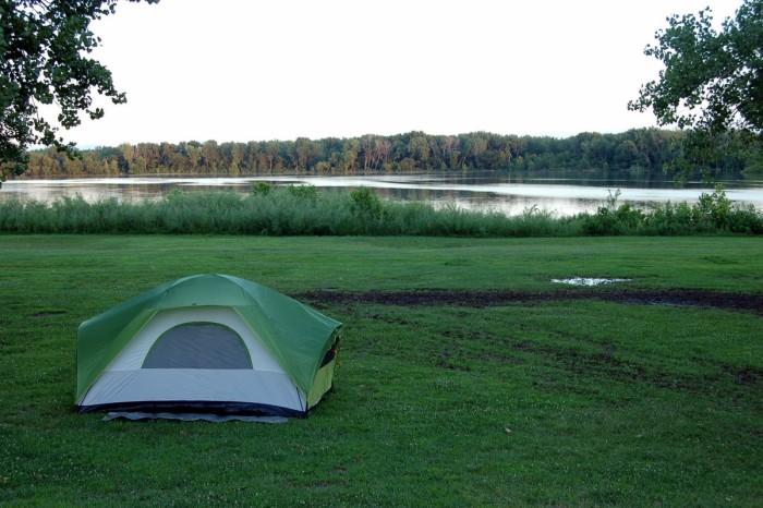 6.) Camp next to one of Kansas's many serene lakes.