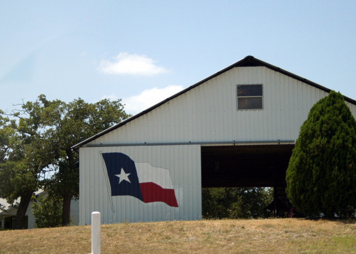 5) Barn With Texas Flag (Unknown Location)