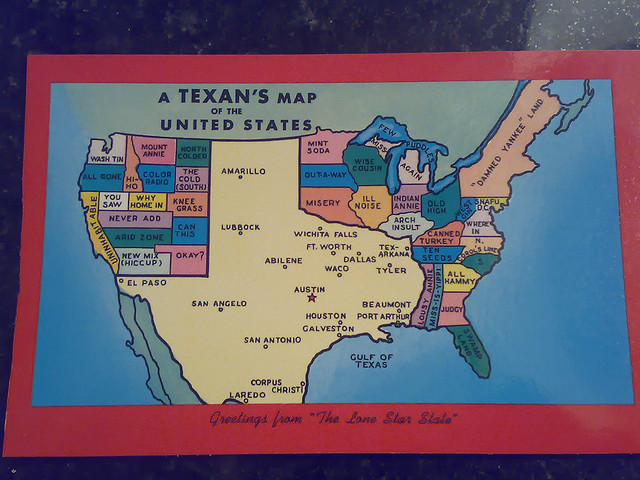 9) We have so much pride in our state that we know for a fact this is how the U.S. map should REALLY look.